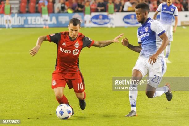 BMO FIELD TORONTO ONTARIO CANADA Sebastian Giovinco in action during 2018 MLS Regular Season match between Toronto FC and FC Dallas at BMO Field