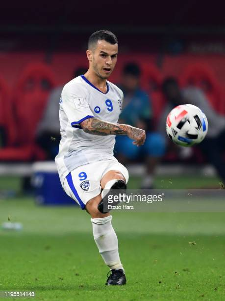 Sebastian Giovinco of Al Hilal in action during the FIFA Club World Cup 3rd Place match between Monterrey and Al Hilal FC at Khalifa Stadium on...