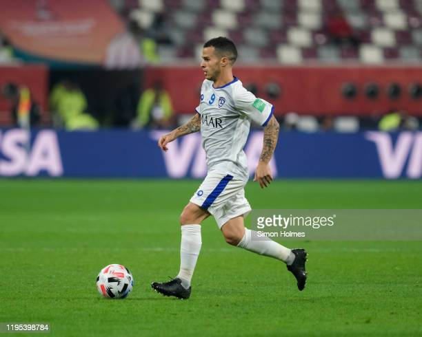 Sebastian Giovinco of Al Hilal on the ball during the FIFA Club World Cup third place play off at Khalifa International Stadium on December 21 2019...