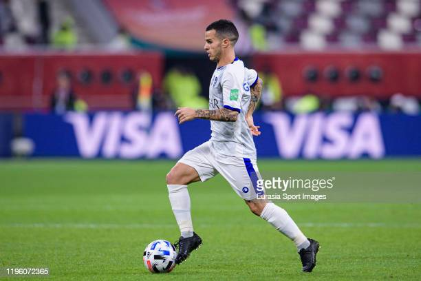 Sebastian Giovinco of Al Hilal runs with the ball during the FIFA Club World Cup 3rd place match between Monterrey and Al Hilal FC at Khalifa...