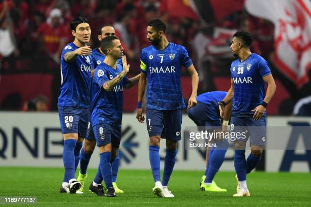 Sebastian Giovinco of Al Hilal speaks to his team mates during the AFC Champions League Final second leg match between Urawa Red Diamonds and Al...