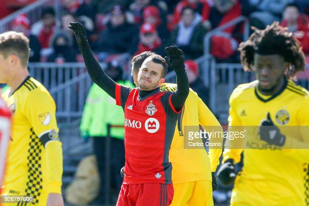 TORONTO ON MARCH 3 Sebastian Giovinco of TFC reacts after a missed chance during the 1st half of MLS action as the Toronto FC host the Columbus Crew...