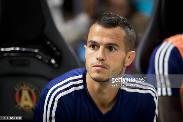 Sebastian Giovinco of the MLS AllStars sits on the bench during the MLS All Star soccer match between Major League Soccer All Stars and Juventus FC...