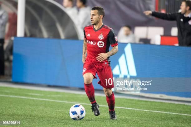 Sebastian Giovinco of Toronto FC in action during the New England Revolution Vs Toronto FC regular season MLS game at Gillette Stadium on May 12 2018...