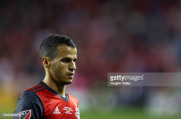 Sebastian Giovinco of Toronto FC looks on during the first half of the 2018 Campeones Cup Final against Tigres UANL at BMO Field on September 19 2018...