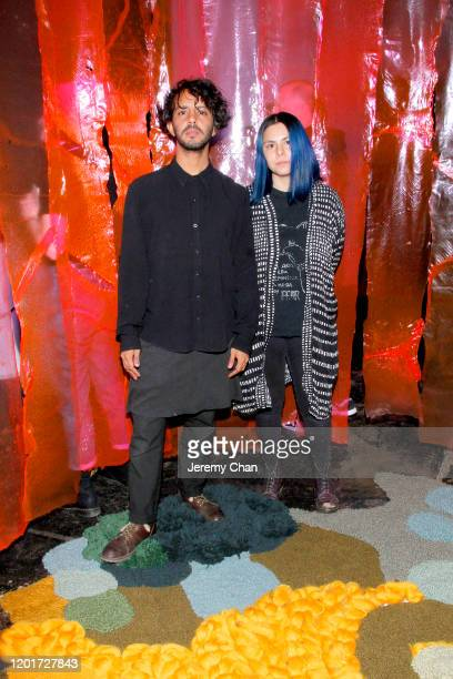 """Sebastian Gonzalez and Natalia Cabrera of """"Hypha"""" attend the New Frontier Press Preview during the 2020 Sundance Film Festival at New Frontier..."""