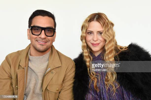 Sebastian Grey and Vero Diaz attend the Claudia Li fashion show during February 2020 New York Fashion Week The Shows at Gallery II at Spring Studios...