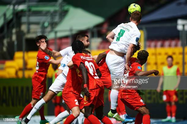Sebastian Gronning of Viborg FF in action during the Danish 3F Superliga match between FC Nordsjalland and Viborg FF at Right to Dream Park on July...