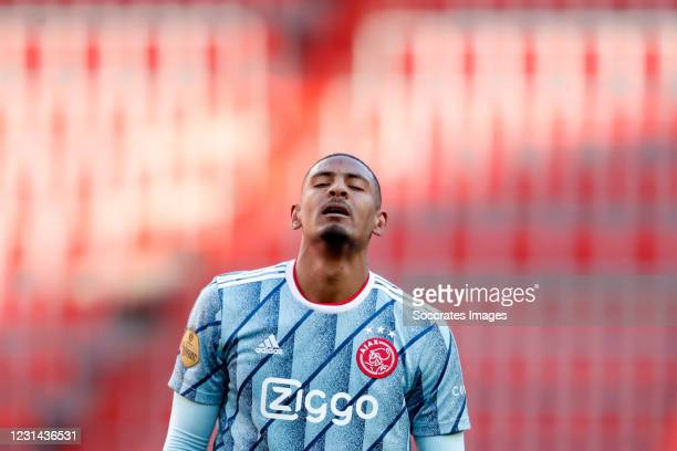 Sebastian Haller of Ajax during the Dutch Eredivisie match between PSV v Ajax at the Philips Stadium on February 28, 2021 in Eindhoven Netherlands