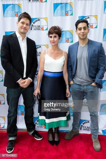 Sebastian Heinrich Anne Marie Cummings and Gustavo Velasquez attend the 9th Annual New Media Film Festival at James Bridges Theater on June 16 2018...