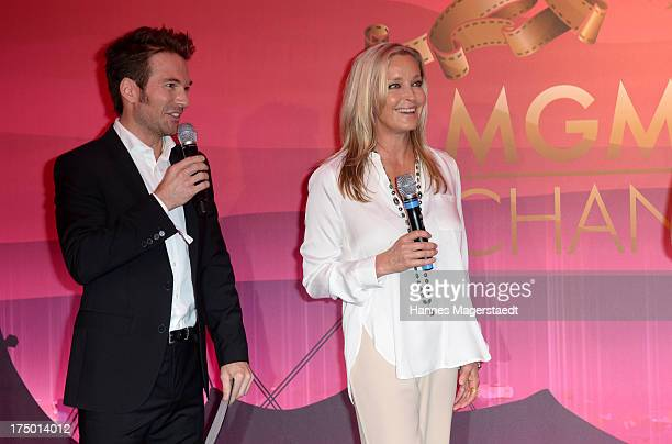 Sebastian Hoeffner and actress Bo Derek attend the MGM HD CHANNEL Hollywood Sunset Party on July 29 2013 in Munich Germany
