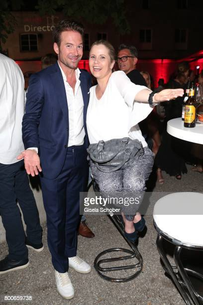 Sebastian Hoeffner and Michaela Schaffrath during the 'Audi Director's cut' Party during the Munich film festival at Praterinsel on June 24 2017 in...