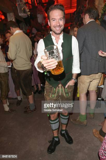 Sebastian Hoeffner during the opening of the Oktoberfest 2017 at Kaeferschaenke at Theresienwiese on September 16 2017 in Munich Germany