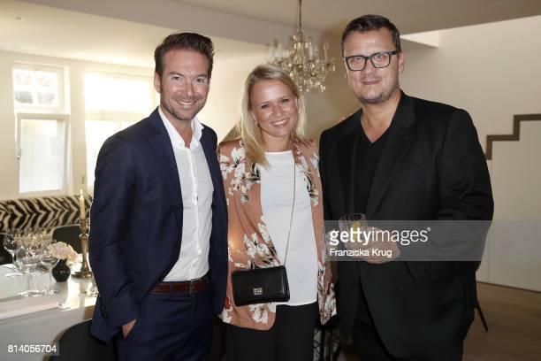 Sebastian Hoeffner Nova Meierhenrich and Torsten Koch during the Clos19 dinner on July 13 2017 in Munich Germany