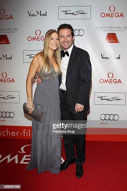 Sebastian Hoffner and guest at 37th German Filmball at Hotel Bayerischer Hof in Munich