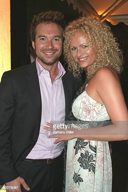 Sebastian Hoffner and Nadja Mickeley attend the Petra Fashion Award on July 26 2008 in Duesseldorf Germany