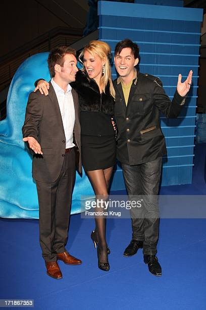 Sebastian Hoffner Tamara Sedmak And Tobey Wilson at the Premiere Of 'Monsters Vs Aliens' in Colosseum Kino in Berlin on 090309