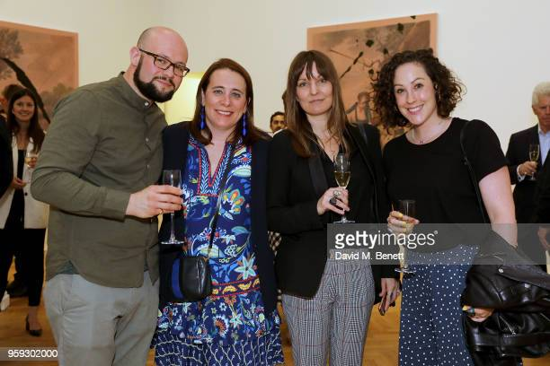 Sebastian Humphrys Aimee Drummey Natalie Godfrey and Kate Brownbill attend Pace Gallery Celebrates Julian Schnabel at 6 Burlington Gardens on May 16...