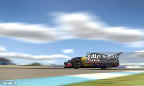 Sebastian Job driving the Red Bull Racing Esports Porsche 911 in action during Round Three of the Porsche TAG Heuer Esports Supercup run at...
