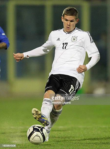 Sebastian Jung of Germany during U21 International Friendly match between Italy and Germany at Stadio Degli Ulivi on February 6 2013 in Andria Italy