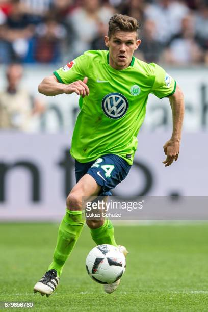 Sebastian Jung of Wolfsburg in action during the Bundesliga match between Eintracht Frankfurt and VfL Wolfsburg at CommerzbankArena on May 6 2017 in...