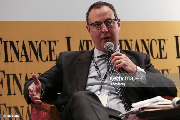 Sebastian Katz deputy secretary of finance for Buenos Aires speaks during the Argentina SubSovereign and Infrastructure Finance Summit in Buenos...