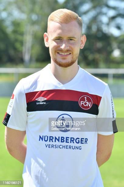 Sebastian Kerk of 1. FC Nürnberg poses during the team presentation at Sportpark Valznerweiher on July 04, 2019 in Nuremberg, Germany.