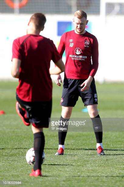Sebastian Kerk of 1. FC Nuernberg controls the ball during a training session as part of the training camp on January 5, 2019 in Marbella, Spain.
