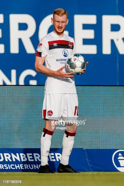 Sebastian Kerk of 1. FC Nuernberg throw-in during the pre-season friendly match between 1. FC Nuernberg and Paris Saint-Germain at...