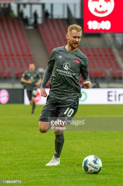 Sebastian Kerk of 1.FC Nuernberg controls the ball during a friendly match between 1. FC Nuernberg and FC Bayern Muenchen at Max-Morlock-Stadion on...