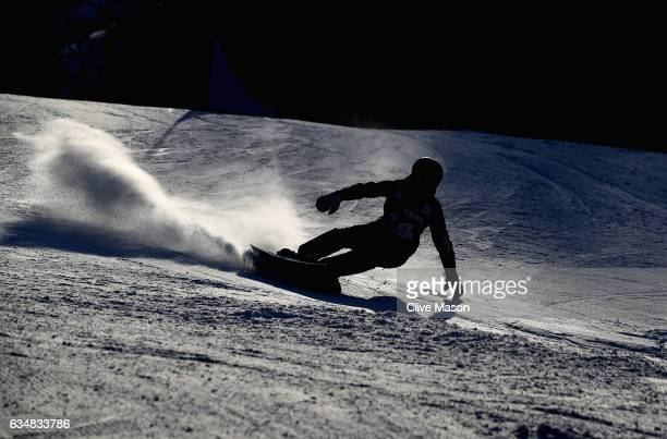 Sebastian Kislinger of Austria in action during the FIS Freestyle World Cup Mens Parallel Giant Slalom at Bokwang Snow Park on February 12 2017 in...
