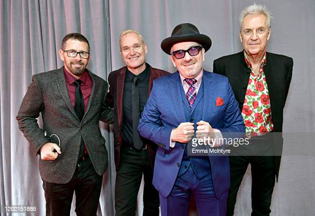 Sebastian Krys Davey Faragher Elvis Costello and Pete Thomas attend the 62nd Annual GRAMMY Awards at STAPLES Center on January 26 2020 in Los Angeles...