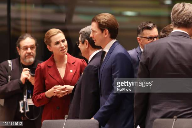 Sebastian Kurz the Federal Chancellor of Austria as seen at the Round Table Room at the Europe an Councilon February 20 2020 in Brussels Belgium...