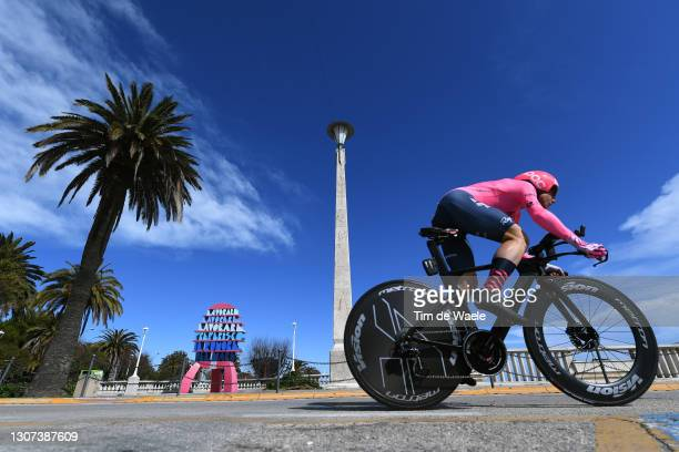 Sebastian Langeveld of Netherlands and Team EF Education - Nippo during the 56th Tirreno-Adriatico 2021, Stage 7 a 10,1km Individual Time Trial stage...