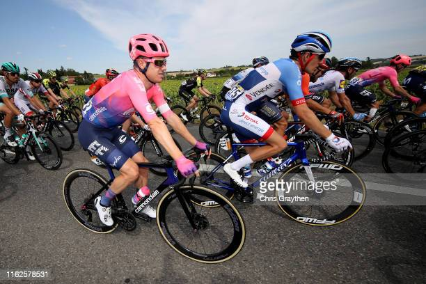 Sebastian Langeveld of The Netherlands and Team EF Education First / Romain Sicard of France and Team Total Direct Energie / Maximiliano Richeze of...