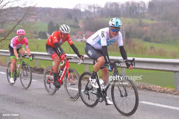 Sebastian Langeveld of The Netherlands and Team EF Education First - Drapac P/B Cannondale / Mads Pedersen of Denmark and Team Trek Segafredo / Dylan...