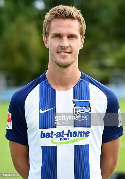 Sebastian Langkamp of Hertha BSC during the team presentation of Hertha BSC on July 12 2016 in Berlin Germany