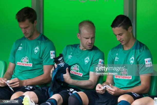 Sebastian Langkamp of Werder Bremen Davy Klaassen of Werder Bremen Marco Friedl of Werder Bremen during the Club Friendly match between FC Groningen...
