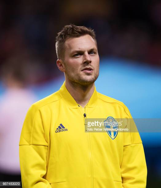 Sebastian Larsson of Sweden ahead of the International Friendly match between Sweden and Chile at Friends arena on March 24 2018 in Solna Sweden
