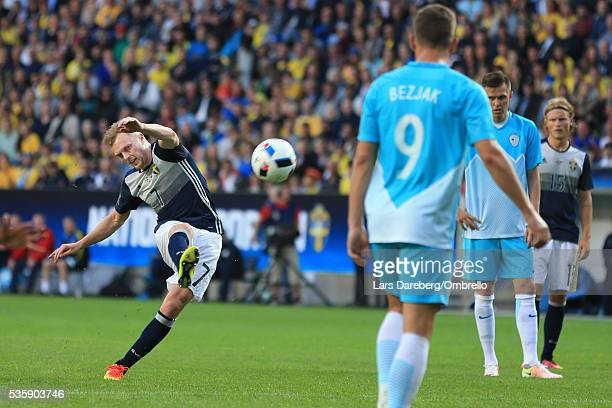 Sebastian Larsson of Sweden during the international friendly match between Sweden and Slovenia on May 30 2016 in Malmo Sweden
