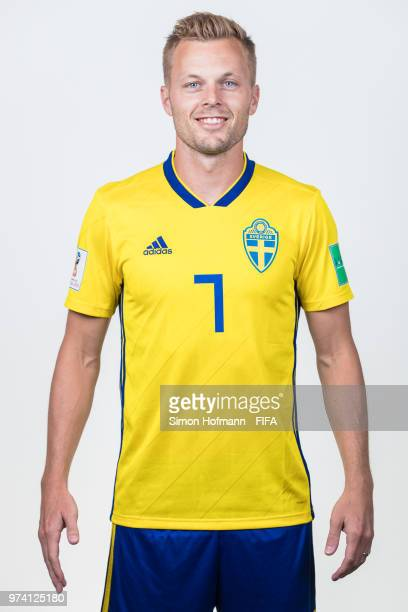 Sebastian Larsson of Sweden poses during the official FIFA World Cup 2018 portrait session on June 13 2018 in Gelendzhik Russia