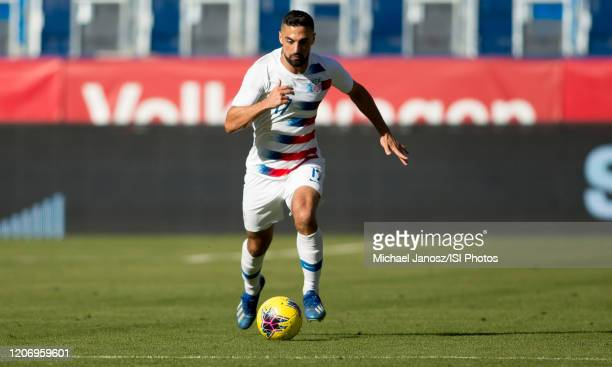 Sebastian Lletget of the United States dribbles with the ball during a game between Costa Rica and USMNT at Dignity Health Sports Park on February 1...