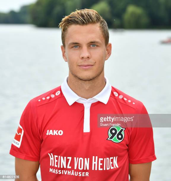 Sebastian Maier of Hannover 96 poses during the team presentation at on July 14 2017 in Hanover Germany