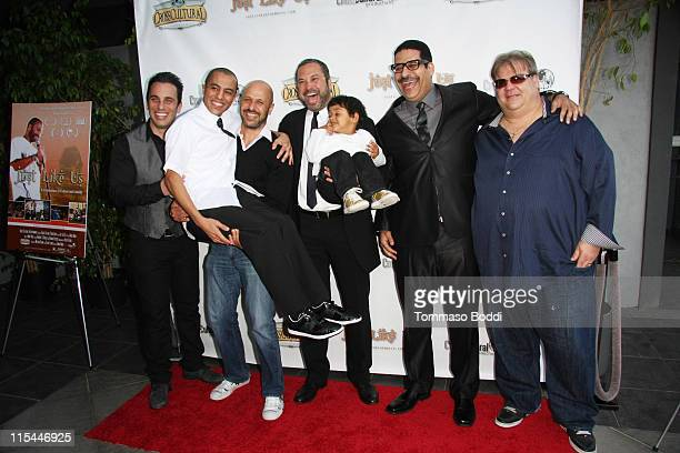 Sebastian Maniscalco actor Eman Morgan Maz Jobrani Ahmed Ahmed Erik Griffin and Angelo Tsarouchas attend the premiere of 'Just Like Us' held at the...