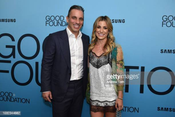 Sebastian Maniscalco and Lana Gomez attend the 2018 GOOD Foundation's Evening of Comedy Music Benefit presented by Samsung Electronics America at...