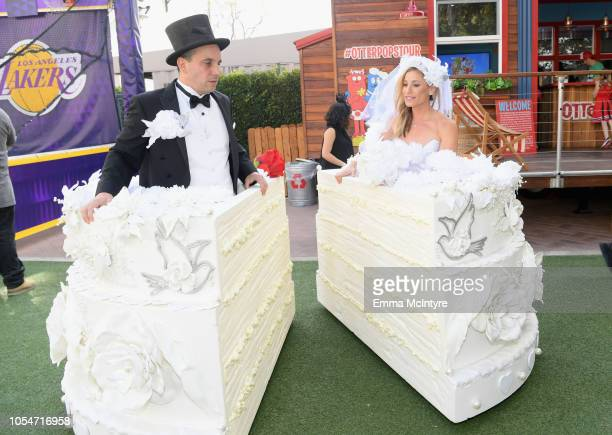 Sebastian Maniscalco and Lana Gomez attend the 2018 GOOD Foundation's 3rd Annual Halloween Bash presented by Delta Air Lines and Otter Pops on...