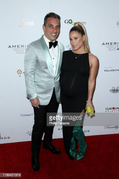 Sebastian Maniscalco and Lana Gomez attend the American Icon Awards at the Beverly Wilshire Four Seasons Hotel on May 19 2019 in Beverly Hills...