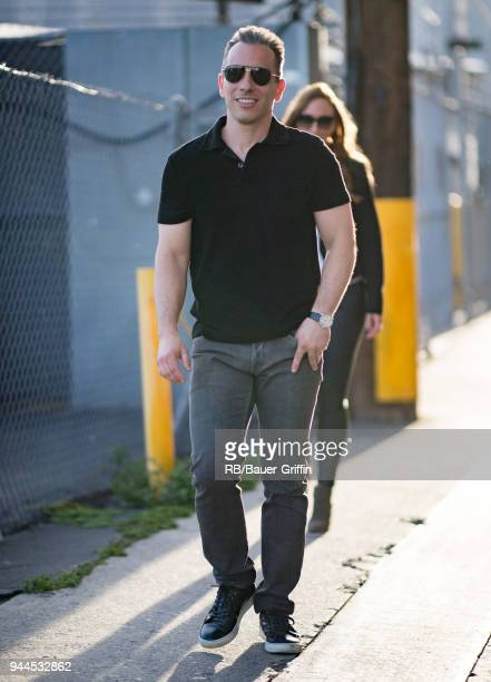 Sebastian Maniscalco is seen at 'Jimmy Kimmel Live' on April 10 2018 in Los Angeles California