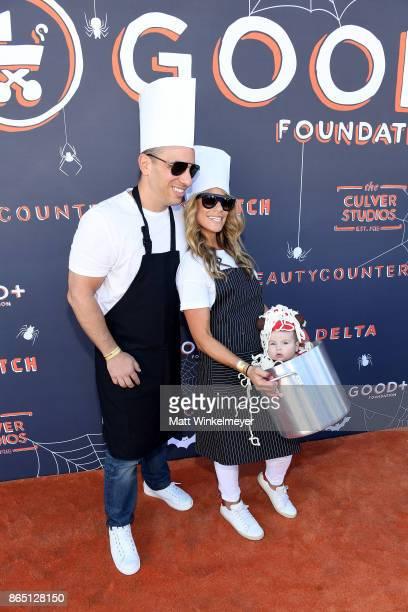 Sebastian Maniscalco Lana Gomez and daughter Serafina Simone Maniscalco attend the GOOD Foundation Halloween Bash presented by Beautycounter Delta...