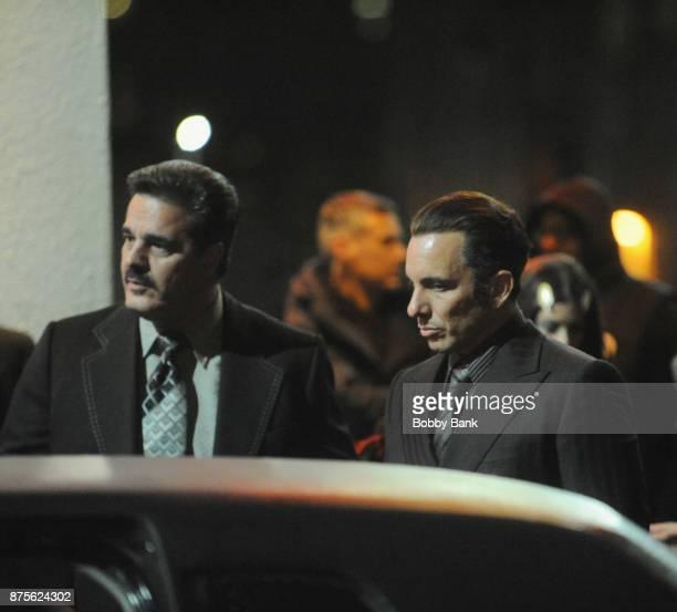 Sebastian Maniscalco on the set of 'The Irishman' on November 17 2017 in New York City